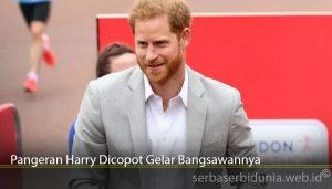 Pangeran Harry Dicopot Gelar Bangsawannya